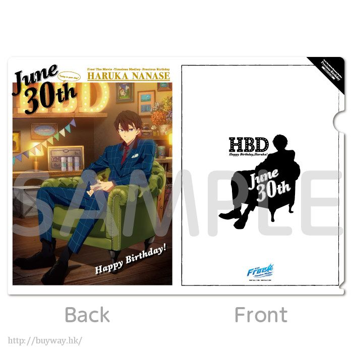 Free! 熱血自由式 「七瀬遙」TM Precious Birthday 文件套 TM Precious Birthday Clear File Nanase Haruka【Free!】