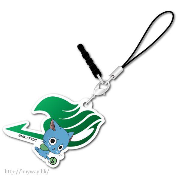 妖精的尾巴 「哈比」可愛抱膝橡膠掛飾 Bocchi-kun Acrylic Charm Happy【Fairy Tail】