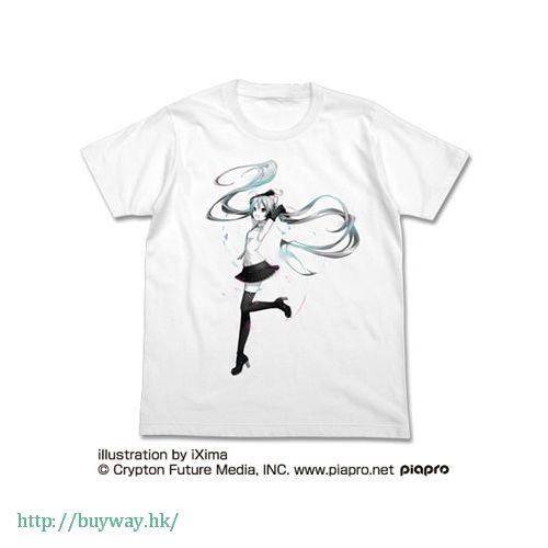 VOCALOID 系列 (加大)「初音未來」白色 T-Shirt Hatsune Miku V4X T-Shirt / WHITE-XL【VOCALOID Series】
