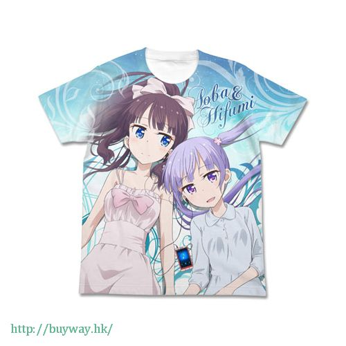 New Game! (加大)「涼風青葉 + 瀧本日富美」白色 T-Shirt Aoba & Hifumi Full Graphic T-Shirt / WHITE-XL【New Game!】