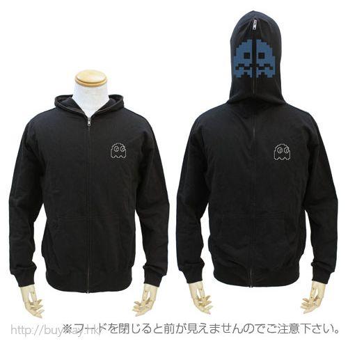 食鬼 (加大)「鬼魂」黑色 外套 Full Zip Parka / BLACK-XL【Pac-Man】