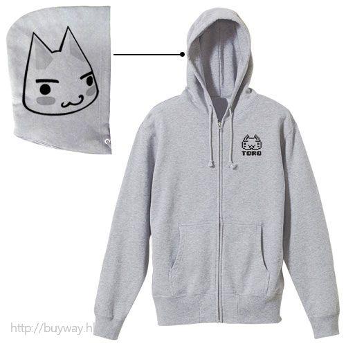 井上多樂 (加大)「多樂貓」混合灰色 外套 Toro Zip Parka / MIX GRAY-XL【Toro Inoue】