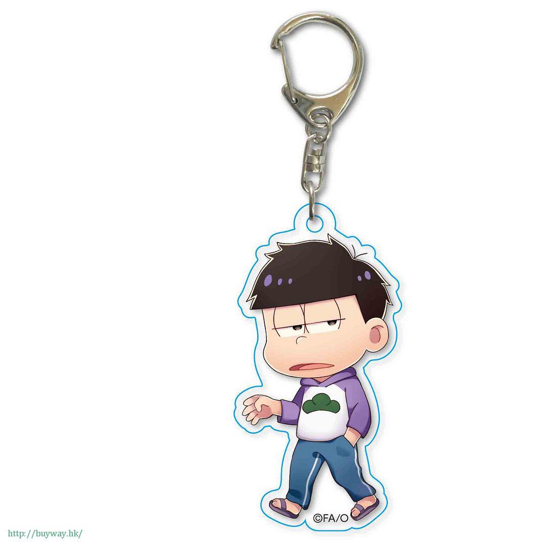 阿松 「松野一松」散步 亞克力匙扣 TEKUTOKO Acrylic Key Chain Ichimatsu【Osomatsu-kun】