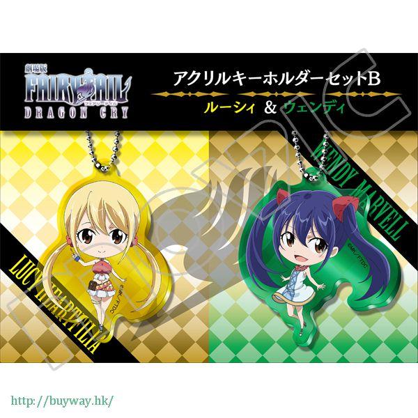 妖精的尾巴 「露西 + 溫蒂」亞克力匙扣 (1 套 2 款) Acrylic Key Chain set B (Lucy & Wendy)【Fairy Tail】