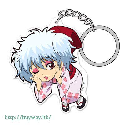 銀魂 「坂田銀時」パー子 ver. 亞克力 吊起匙扣 Acrylic Pinched Keychain: Gin-san Paako Ver.【Gin Tama】