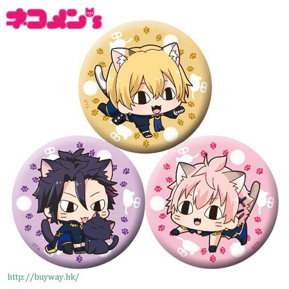 月歌。 「師走驅 + 睦月始 + 如月戀」徽章 set 貓咪 ver. (1 套 3 款) Nekomens Can Badge 3 Set A【Tsukiuta.】