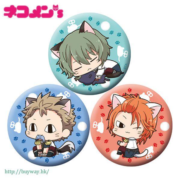 月歌。 「水無月淚 + 文月海 + 葉月陽」徽章 set 貓咪 ver. (1 套 3 款) Nekomens Can Badge 3 Set C【Tsukiuta.】