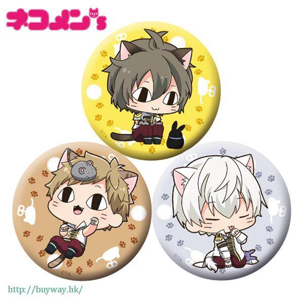 月歌。 「長月夜 + 神無月郁 + 霜月隼」徽章 set 貓咪 ver. (1 套 3 款) Nekomens Can Badge 3 Set D【Tsukiuta.】