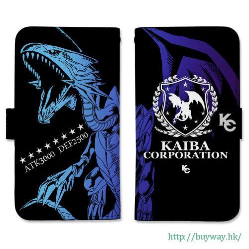 遊戲王 「青眼白龍」158mm 筆記本型手機套 (iPhone6plus/7plus/8plus) Book-style Smartphone Case 158: Blue-Eyes White Dragon【Yu-Gi-Oh!】