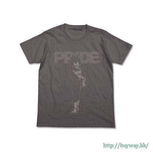 龍珠 (加大)「比達」PRIDE 灰色 T-Shirt Vegeta PRIDE T-Shirt / MEDIUM GRAY-XL【Dragon Ball】