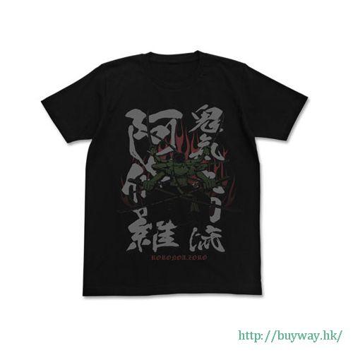 海賊王 (加大)「羅羅亞.索隆」黑色 T-Shirt Kiki Kutouryuu Ashura T-Shirt / BLACK-XL【ONE PIECE】
