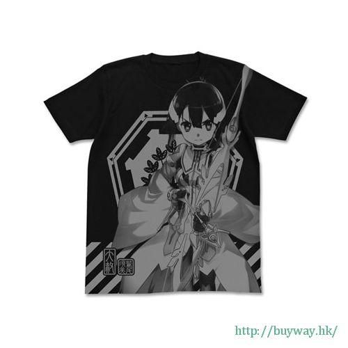 結城友奈是勇者 (加大)「東鄉美森」-鷲尾須美の章- 黑色 T-Shirt Sumi Washio All Print T-Shirt / BLACK-XL【Yuki Yuna is a Hero】