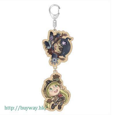 來自深淵 「莉可 + 雷古」木製 匙扣 Tsunagaru Wooden Key Chain Reg & Riko Ver.【Made in Abyss】