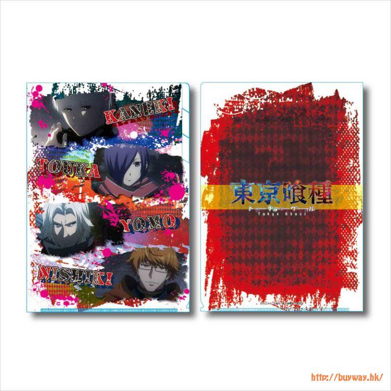 東京喰種 「金木 + 董香 + 四方 + 西尾」B款 3層文件套 Clear File 3 Pocket B【Tokyo Ghoul】