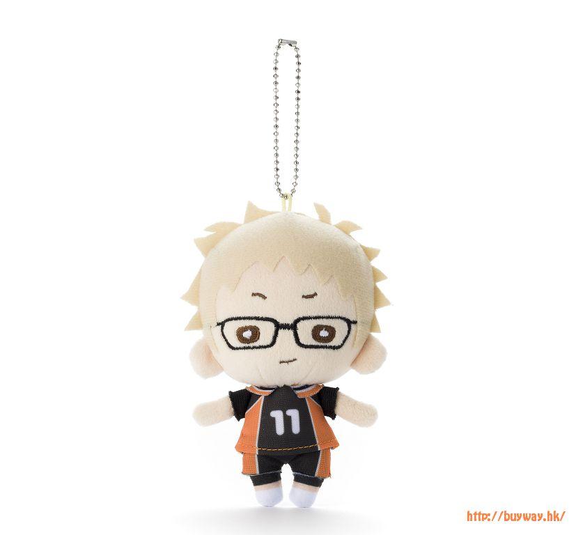 排球少年!! 「月島螢」豆豆眼 公仔掛飾 Nitotan Plush with Ball Chain Tsukishima【Haikyu!!】