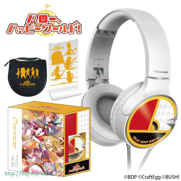 BanG Dream! 「Hello, Happy World!」頭戴式耳機 Pioneer Headphone Hello, Happy World!【BanG Dream!】