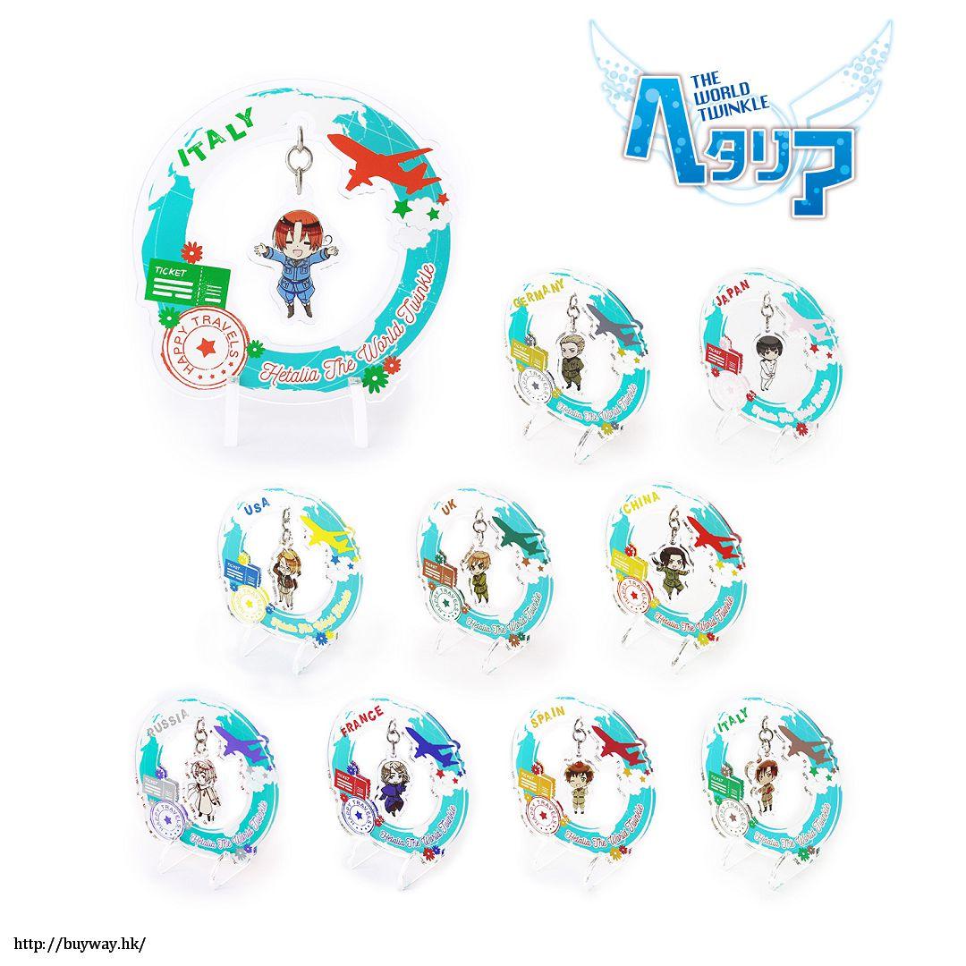黑塔利亞 搖呀搖呀 環遊世界 亞克力企牌 (10 個入) Yurayura Acrylic Stand World Travel Ver. (10 Pieces)【Hetalia】