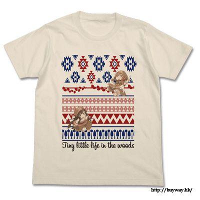 妖精森林的小不點 (加大)「白明 + 御子地」米白 T-Shirt Full Color T-Shirt / NATURAL-XL【Hakumei and Mikochi】