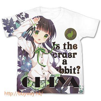 請問您今天要來點兔子嗎? (加大)「宇治松千夜」T-Shirt Chiya Full Graphic T-Shirt - XL【Is the Order a Rabbit?】
