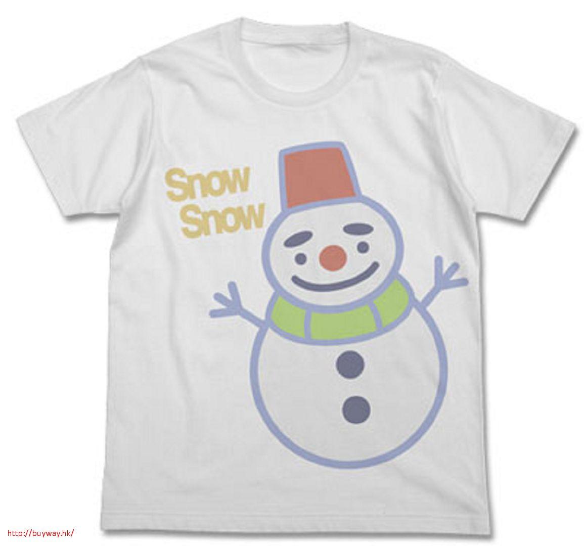 花牌情緣 (中碼) 「雪人丸」白色 T-Shirt Shinobu's Snow Maru T-Shirt / WHITE - M【Chihayafuru】