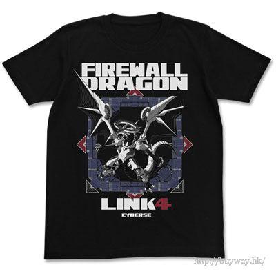 遊戲王 (大碼)「Firewall Dragon」黑色 T-Shirt Firewall Dragon T-Shirt / BLACK-L【Yu-Gi-Oh!】