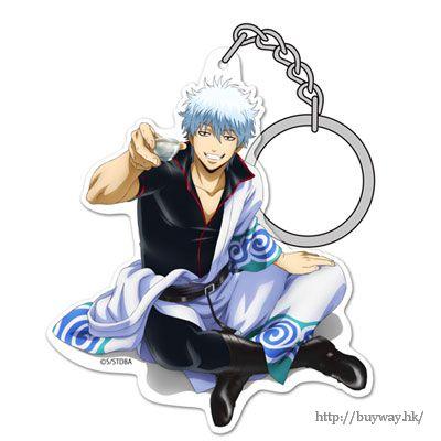 """銀魂 「坂田銀時」と一杯 ver. 亞克力匙扣 Acrylic Keychain: """"Gintoki Sakata"""" Gin-san to Ippai Ver.【Gin Tama】"""