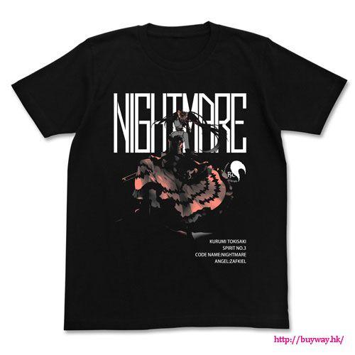 約會大作戰 (加大)「時崎狂三」黑色 T-Shirt Kurumi Tokisaki Original Work Ver. T-Shirt / BLACK-XL【Date A Live】