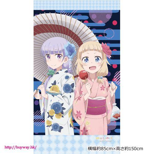 New Game! 「涼風青葉 + 櫻寧寧」暖簾 Noren Suzukaze Aoba & Sakura Nene【New Game!】