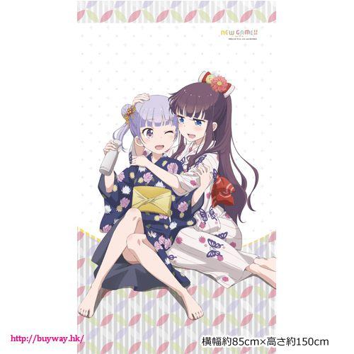 New Game! 「涼風青葉 + 瀧本日富美」暖簾 Noren Suzukaze Aoba & Takimoto Hifumi【New Game!】