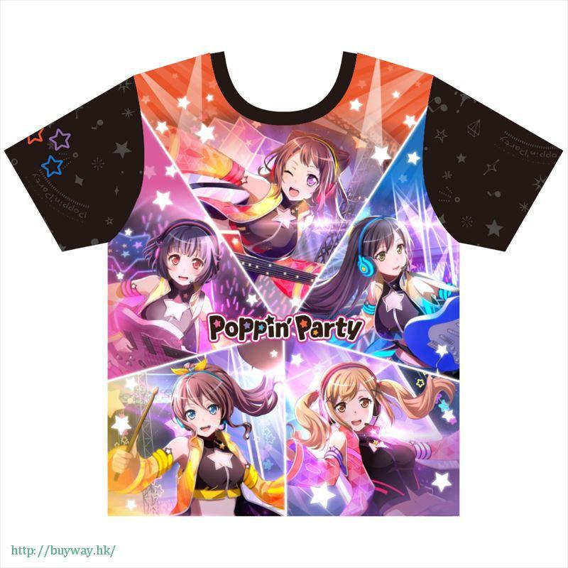 BanG Dream! (加大)「Poppin'Party」全彩 T-Shirt Full Graphic T-Shirt (XL Size)【BanG Dream!】