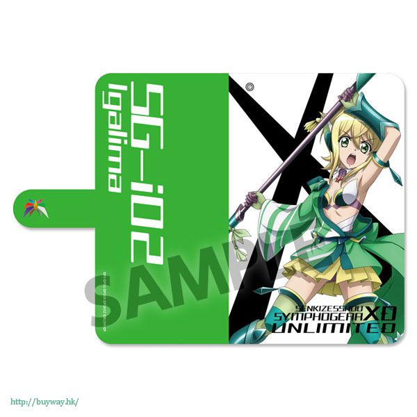 戰姬絕唱SYMPHOGEAR 「曉切歌」142mm 筆記本型手機套 Book Type Smartphone Case Akatsuki Kirika (Kyogeki, ISunboushi) (M Size)【Symphogear】