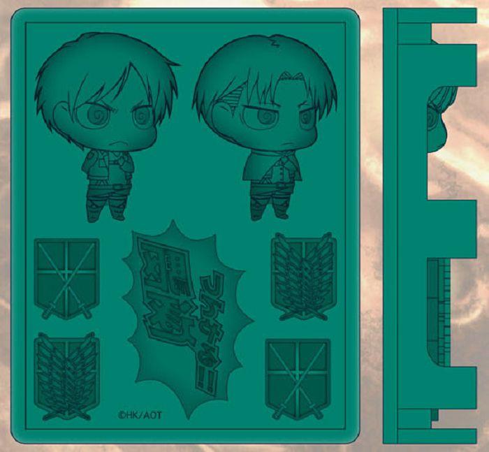 進擊的巨人 Q版 艾倫 & 里維 矽膠冰格模 Chimi Shingeki Ver. Silicon Ice Tray【Attack on Titan】