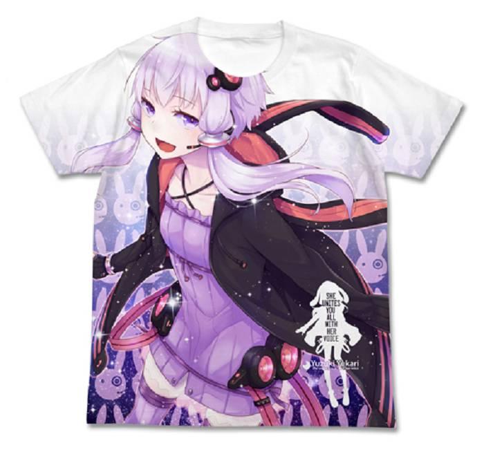 VOCALOID 系列 (加大)「結月緣」白色 T-Shirt Yuzuki Yukari White T-Shirt【VOCALOID Series】(Size: XLarge)