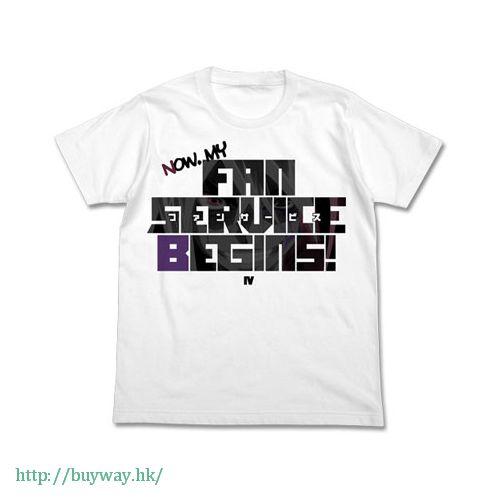 遊戲王 (加大)「IV」白色 T-Shirt Quattro's Fan Service T-Shirt / WHITE - XL【Yu-Gi-Oh!】