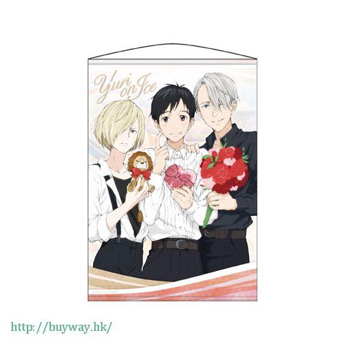 勇利!!! on ICE 「勇利 + 維克托 + 尤里」掛布 Wall Scroll Yuri on Ice【Yuri on Ice】