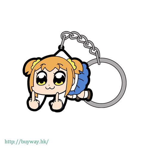 Pop Team Epic 「POP子」FXXK OFF 吊起匙扣 Pinched Keychain Popuko FXXK OFF【Pop Team Epic】