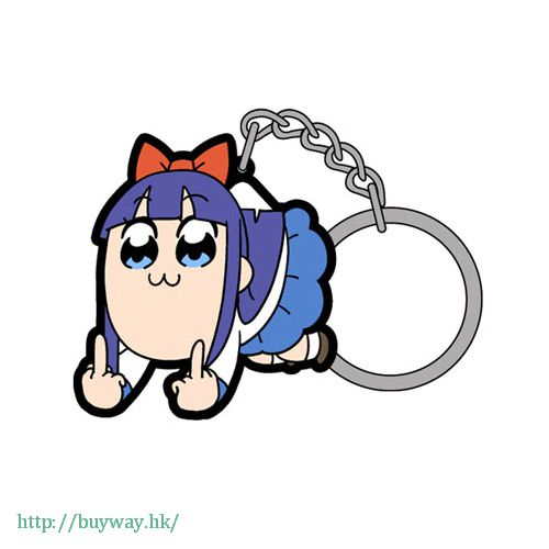 Pop Team Epic 「PIPI美」FXXK OFF 吊起匙扣 Pinched Keychain Pipimi FXXK OFF【Pop Team Epic】