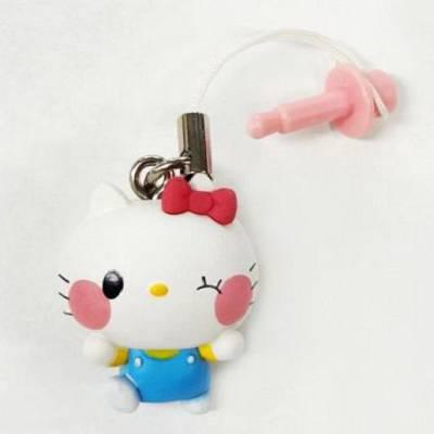Hello Kitty Sanrio 系列 Hello Kitty 卡通防塵塞 Yurukawa Sanrio Characters Hello Kitty Earphone Jack Mascot【Hello Kitty】