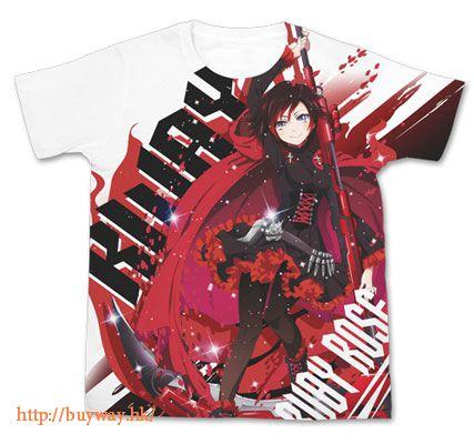RWBY (加大)「露比.蘿絲 」T-Shirt 全彩 Ruby Rose Full Graphic T-Shirt / WHITE - XL【RWBY】