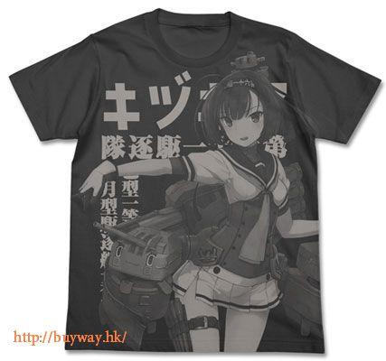 艦隊 Collection -艦Colle- (中碼)「秋月」T-Shirt 墨黑色 Akizuki All Print T-Shirt / SUMI - M【Kantai Collection -KanColle-】