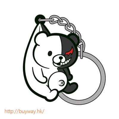 槍彈辯駁 「黑白熊」-The End of 希望峰學園- 吊起匙扣 The End of Kibougamine Gakuen- Pinched Keychain Monokuma Ver. 2.0【Danganronpa】