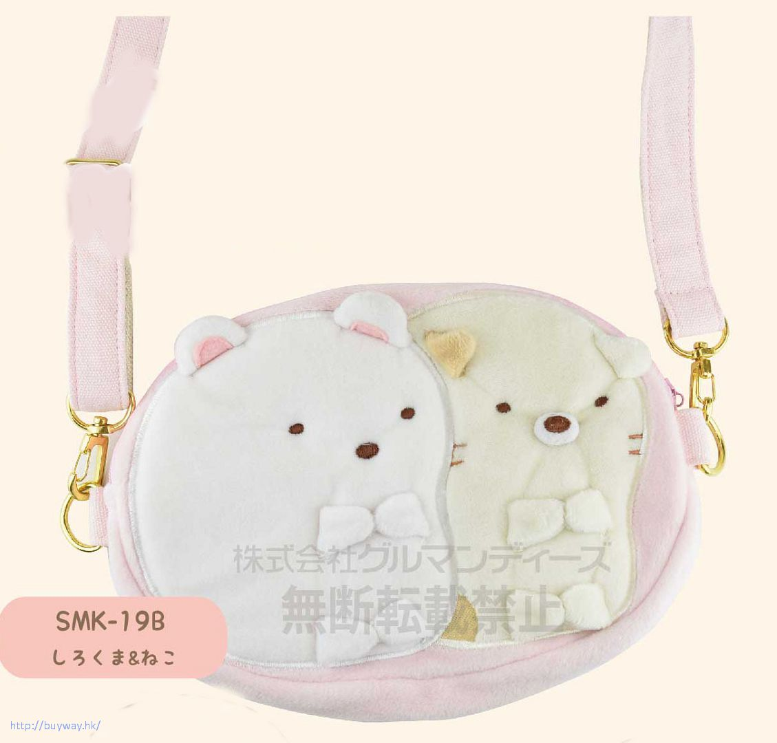 角落生物 「白熊 + 貓咪」手機袋 Smartphone Bag Shirokuma & Neko SMK-19B【Sumikko Gurashi】