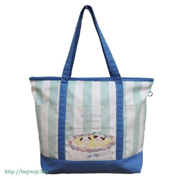 勇利!!! on ICE 「勝生勇利 + PC狗」大布袋 Yuri on Ice×Sanrio characters Big Tote Bag: Yuri & Pochacco【Yuri on Ice】