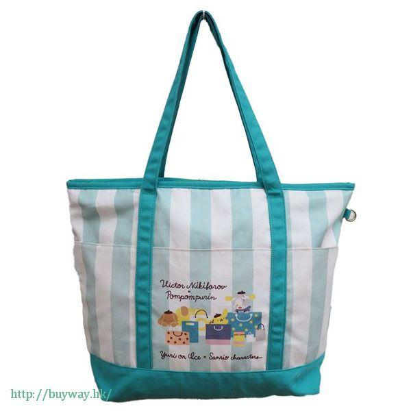 勇利!!! on ICE 「維克托 + 布丁狗」大布袋 Yuri on Ice×Sanrio characters Big Tote Bag: Victor & Pom Pom Purin【Yuri on Ice】