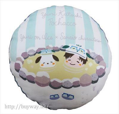 勇利!!! on ICE 「勝生勇利 + PC狗」圓形 Cushion Yuri on Ice×Sanrio characters Round Cushion Yuri + Pochacco【Yuri on Ice】