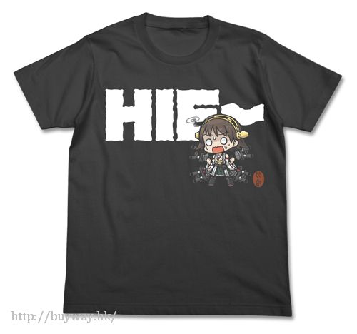 艦隊 Collection -艦Colle- (加大)「比叡」Hei- T-Shirt 墨黑色 Hiei Hie- T-shirt / SUMI - XL【Kantai Collection -KanColle-】