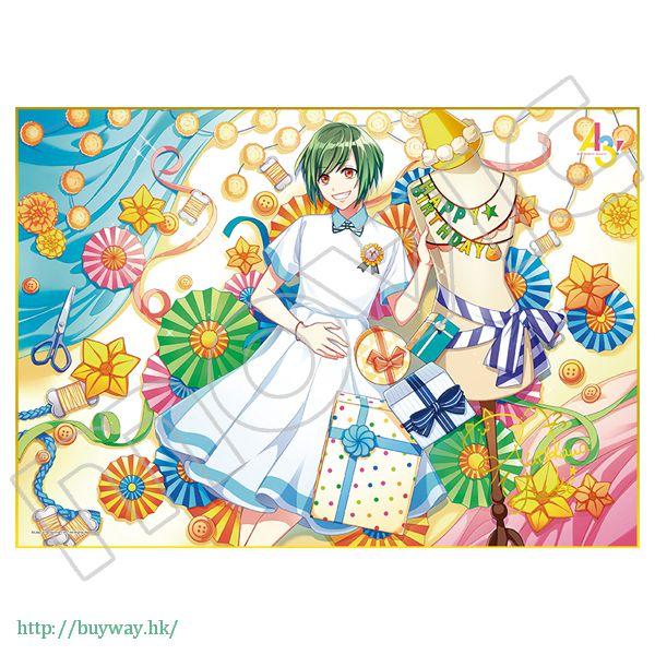 A3! 「瑠璃川幸」生日快樂 金簽色紙 Happy Birthday Shikishi Yuki Rurikawa【A3!】