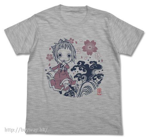 藍海少女! (加大)「小日向光 (閃光)」灰色 T-Shirt Bikari T-Shirt / HEATHER GRAY - XL【Amanchu!】