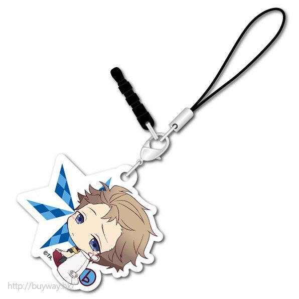 月歌。 (3 枚入)「文月海 (7月)」可愛抱膝橡膠掛飾 (3 Pieces) Bocchi-kun Acrylic Charm Fuduki Kai【Tsukiuta.】