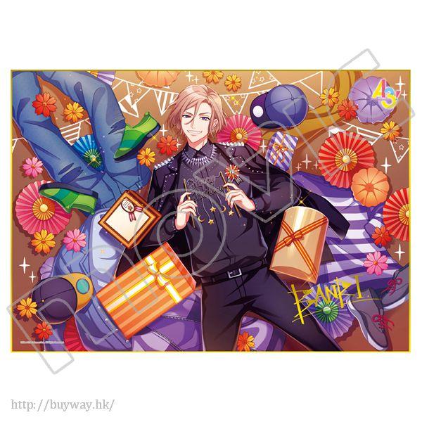 A3! 「摂津萬里」生日快樂 金簽色紙 Happy Birthday Shikishi Banri Settsu【A3!】